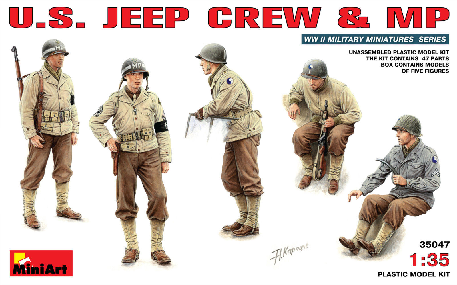 US Jeep Crew & Military Police