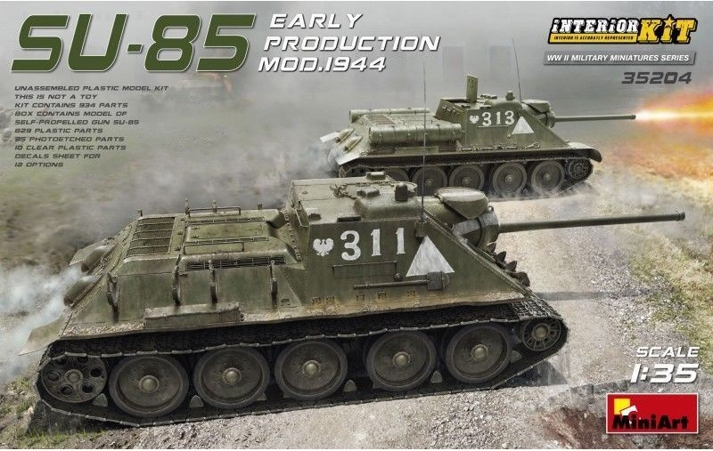 SU-85 Mod. 1944 (Early Production) w/ Interior Kit