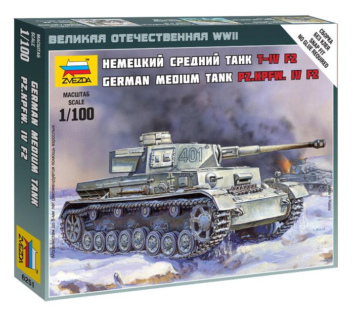 German Medium Tank Pz.Kpfw.IV F2  1/100