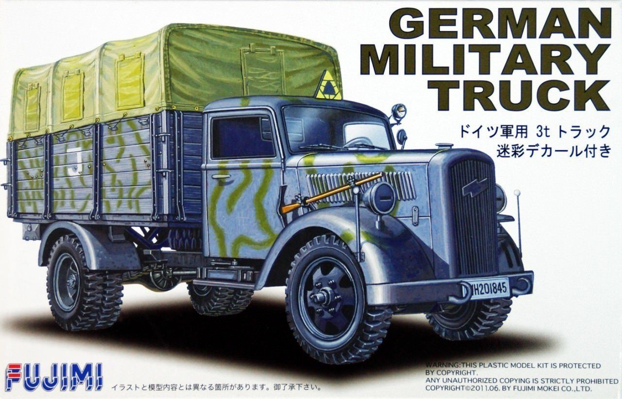 Opel Blitz German Military Truck (Camouflaged)