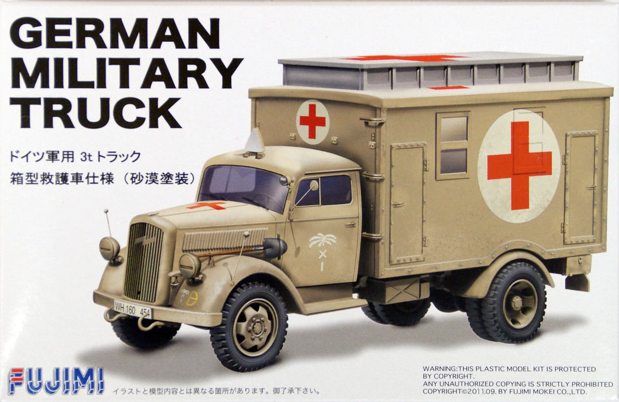 Opel Blitz German Military Truck 3t Ambulance