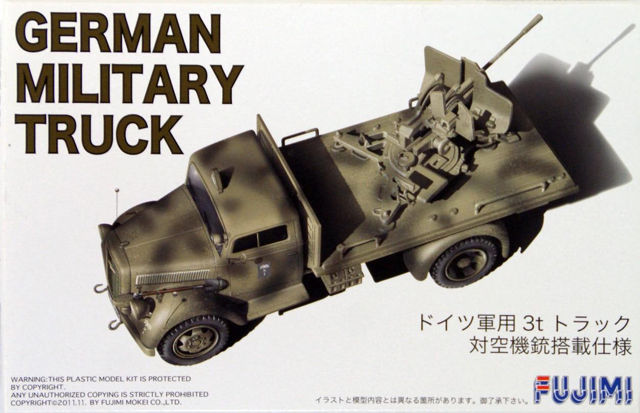 Opel Blitz German Military Truck w/Anti Aircraft Gun