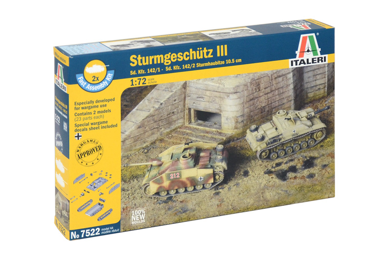 Sd.Kfz.142/1 Stug. III Ausf. G  (2 FAST ASSEMBLY MODELS)