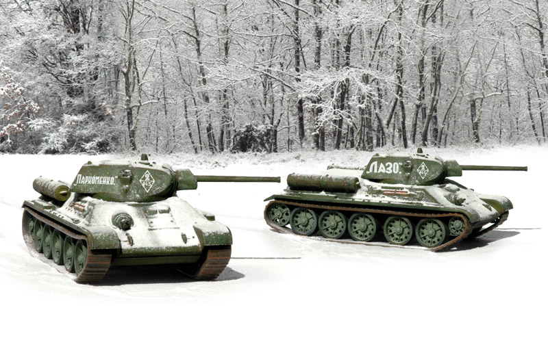 T 34 / 76 m42  (2 FAST ASSEMBLY MODELS)