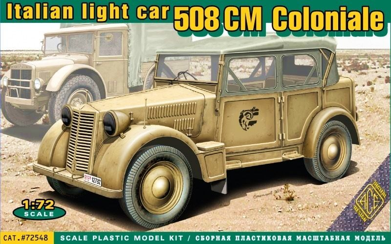 Italian light military vehicle 508 CM Coloniale