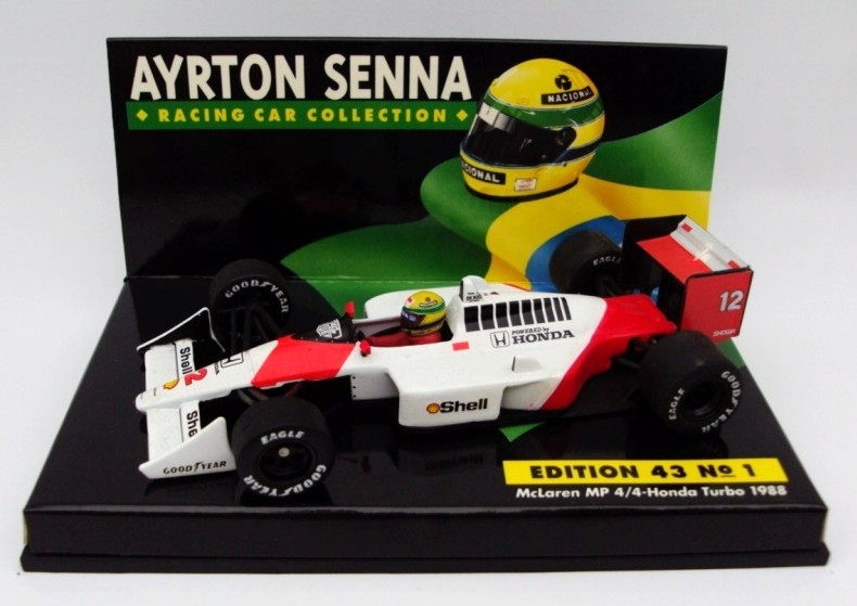 Mclaren MP 4/4 Honda Tyrbo 1988 Ayrton Senna Racing Car Collection