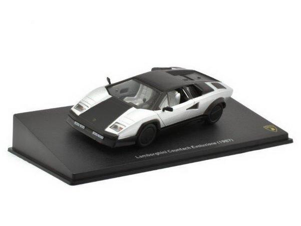 Lamborghini Countach Evoluzione 1987 Black Silver Mudelautod Ee