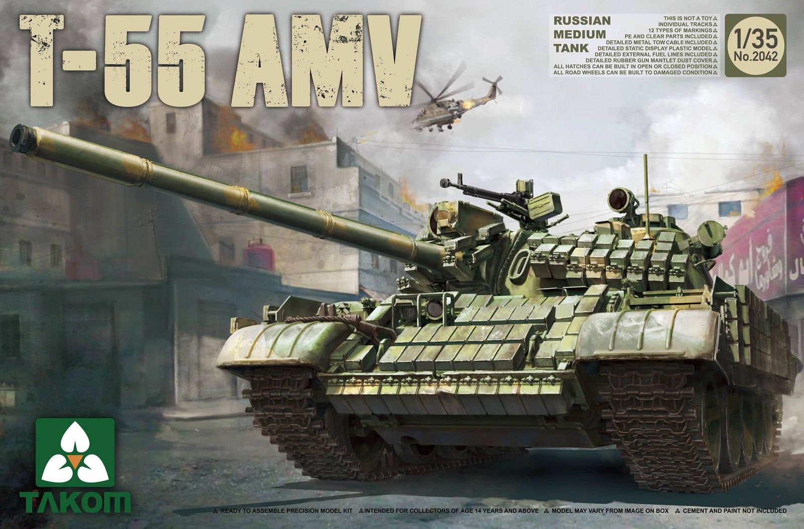 Russian Medium Tank T-55AMV