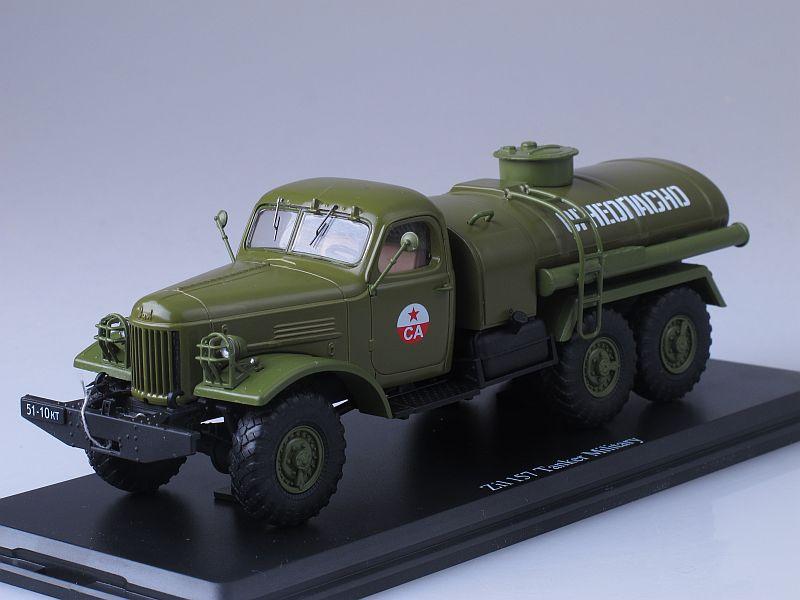Military tanker ZIL-157 /khaki/