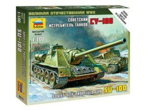 Soviet Self-Propeled Gun SU-100 1/100