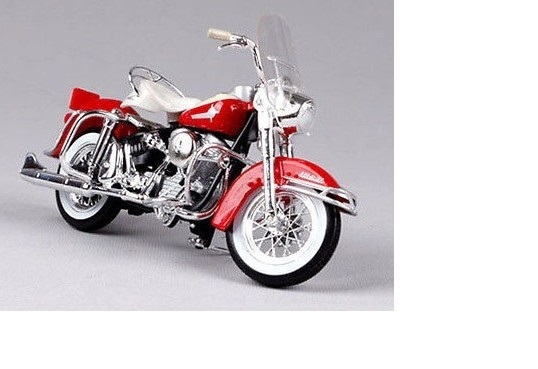 HARLEY-DAVIDSON FLH DUO GLIDE 1962 RED/WHITE