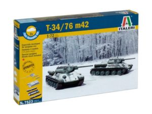 T34/76 M42 (2 FAST ASSEMBLY MODELS)